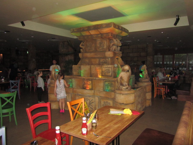 The Temple Restaurant in the new Azteca Hotel