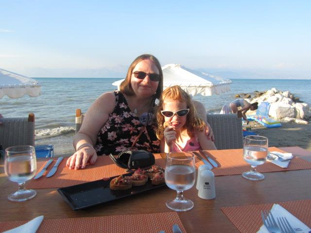 Enjoying the Italian Restaurant on the beach