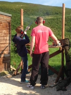Clay pigeon shooting in Scotland