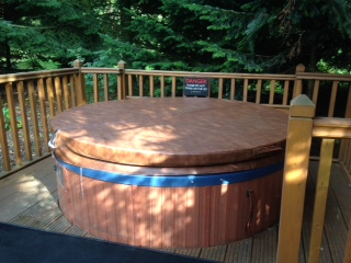 Hot tub on the decking