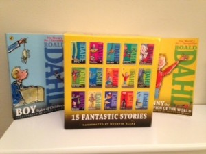 Katie's collection of Roald Dahl books