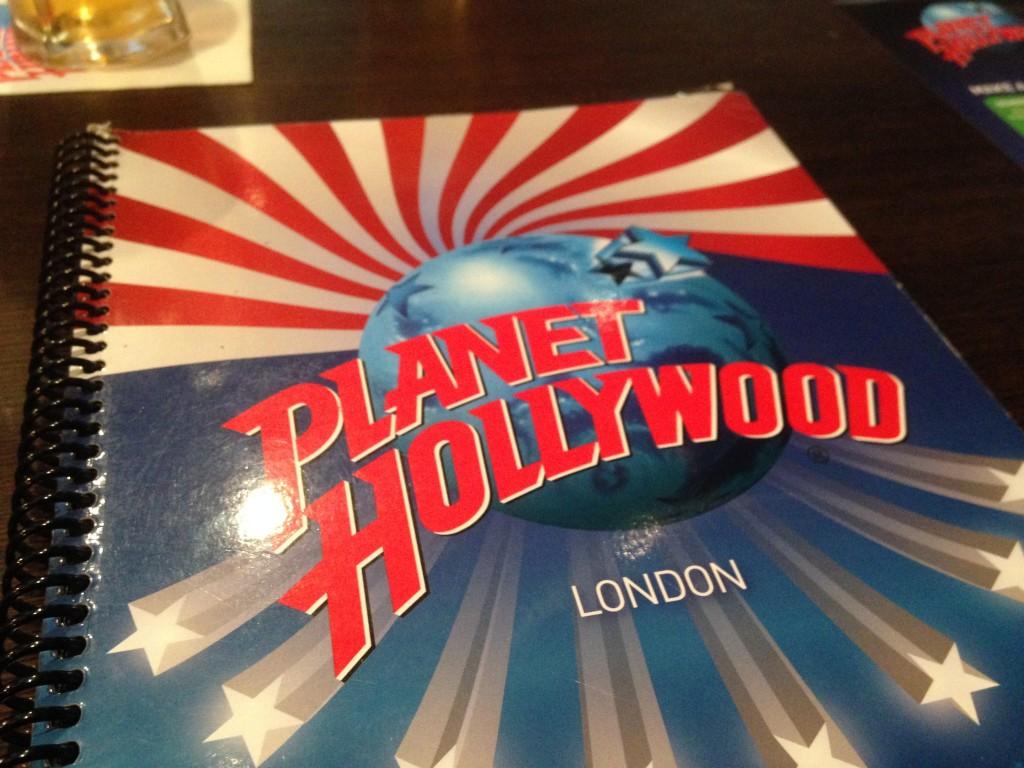 Planet Hollywood menu