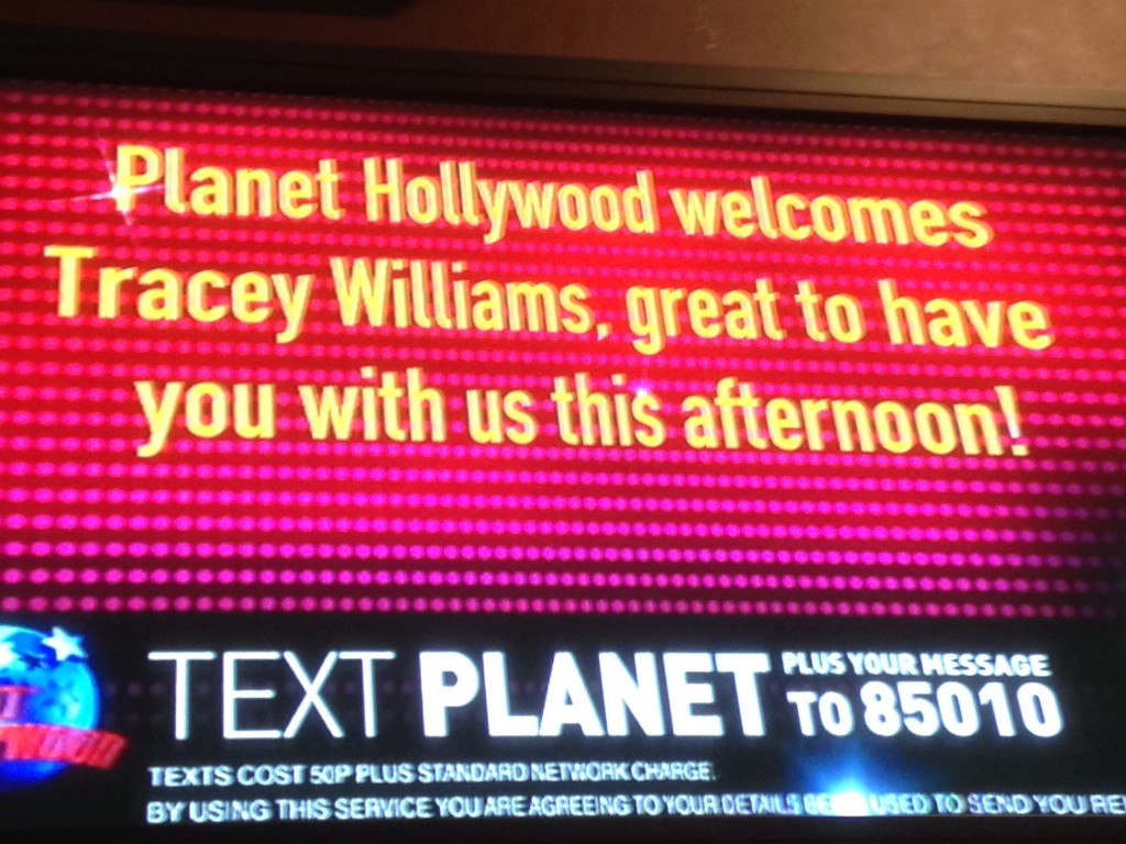 Planet Hollywood Message