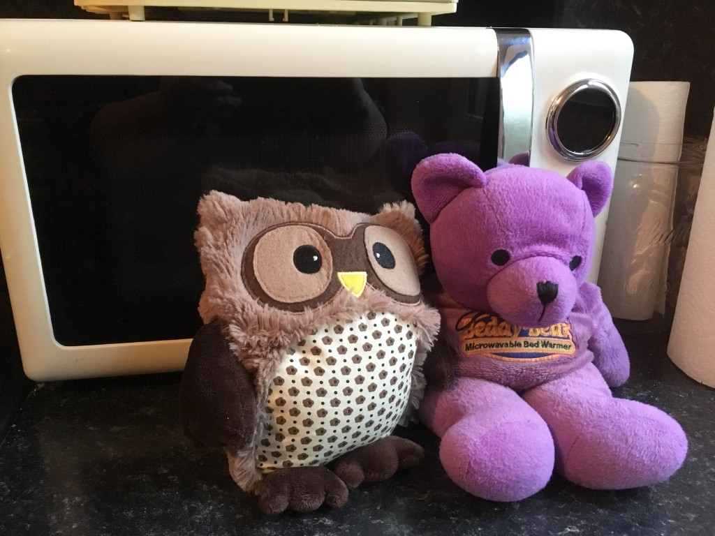 Microwave owl and beddy bear