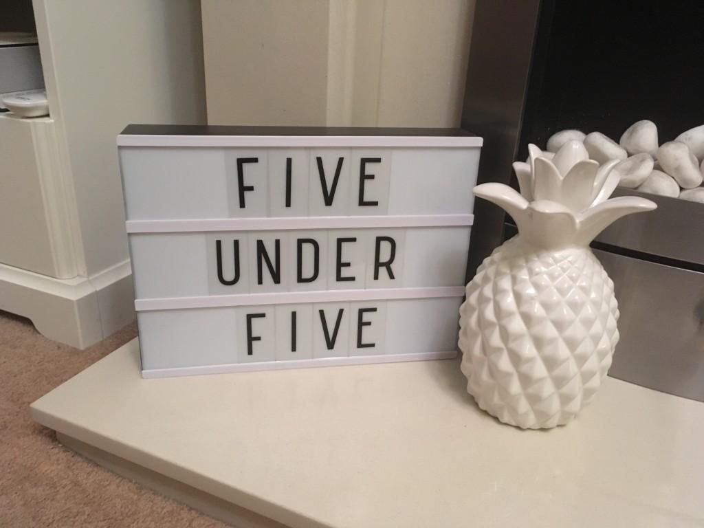 Five under five