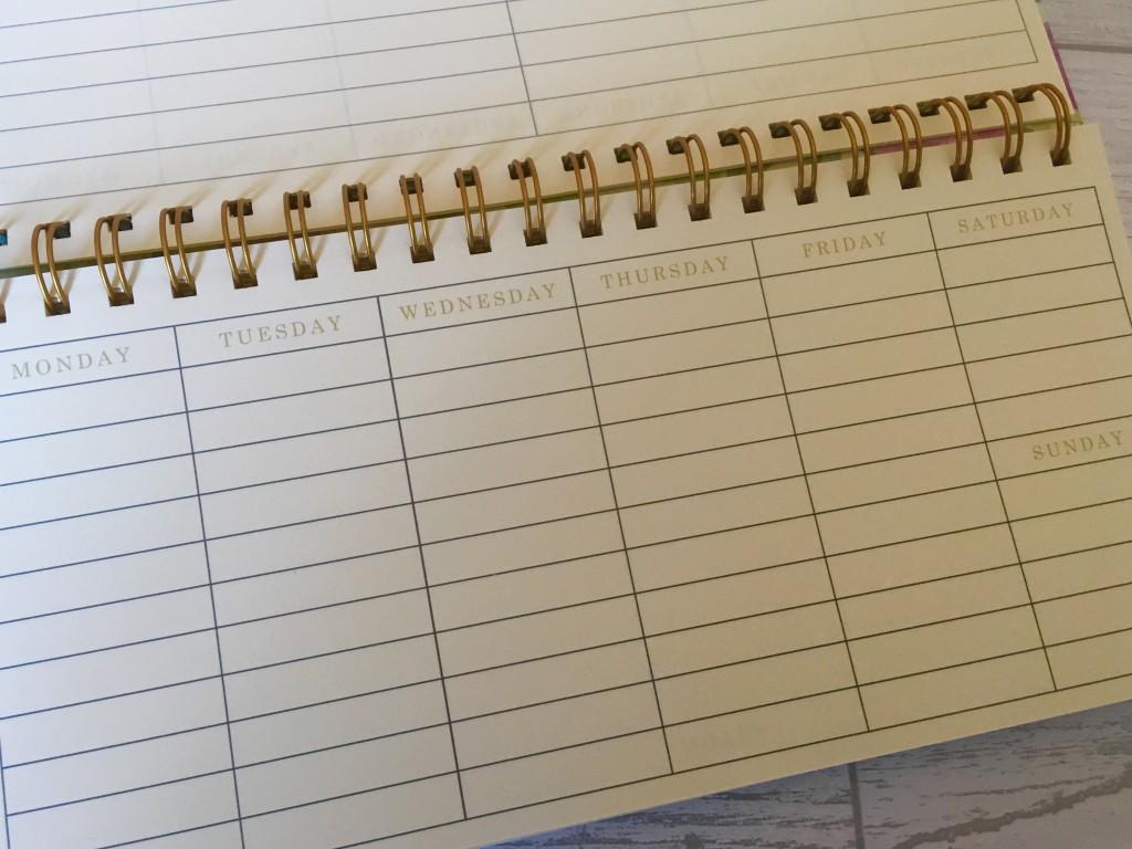 Sainsburys weekly planner