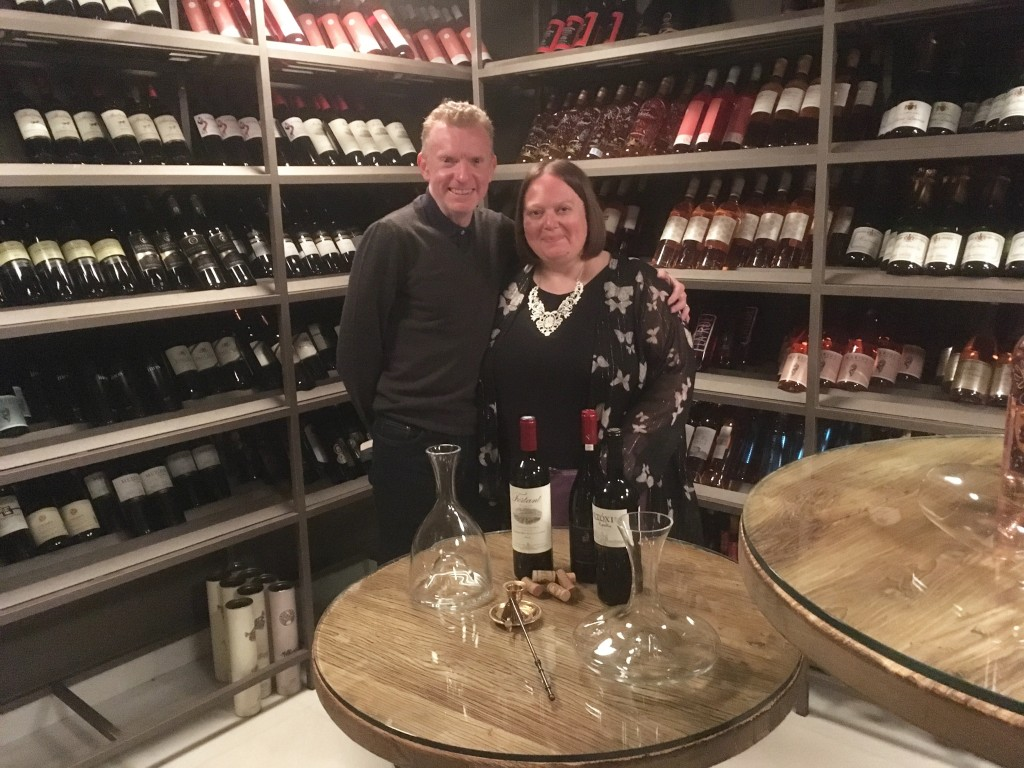 Ikos Olivia wine cellar