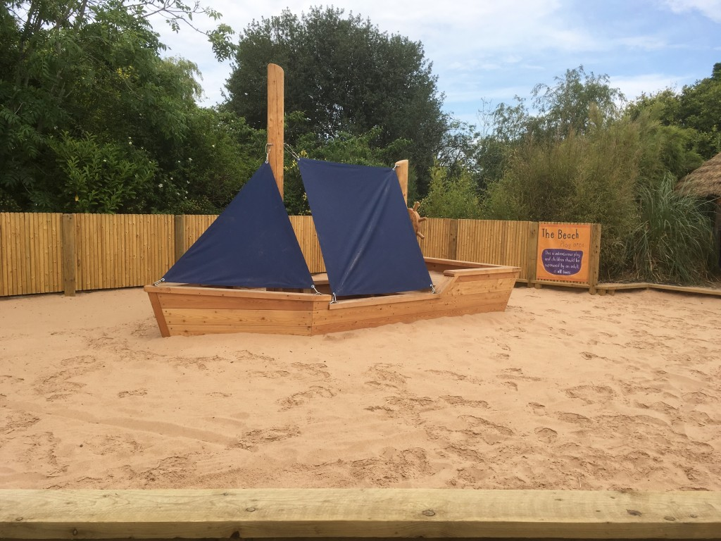 Beach area at Chester Zoo