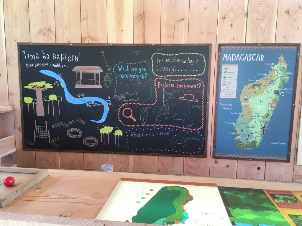 Chalkboard at Chester Zoo
