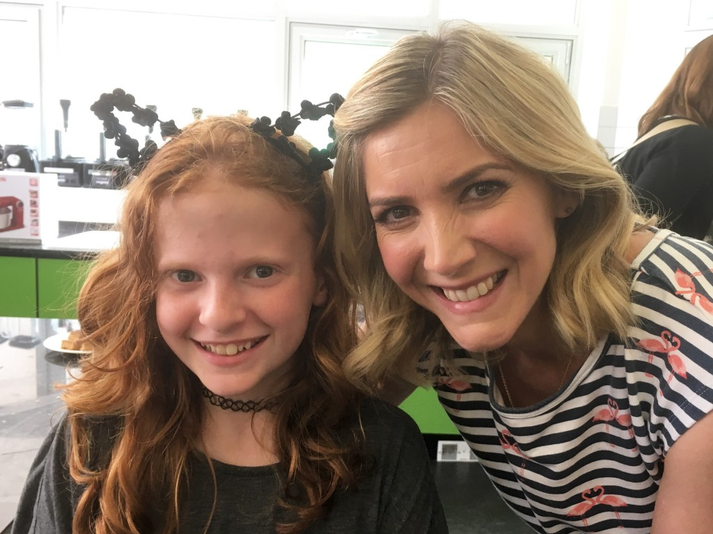 Daughter and Lisa Faulkner