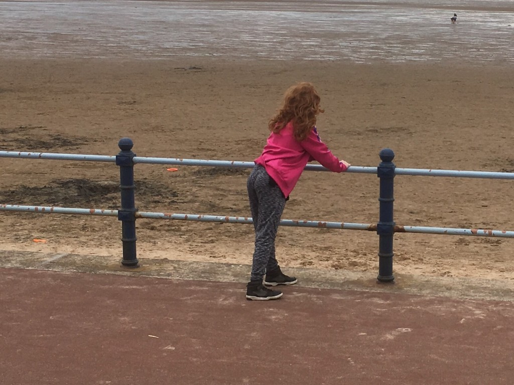 Daughter at the beach