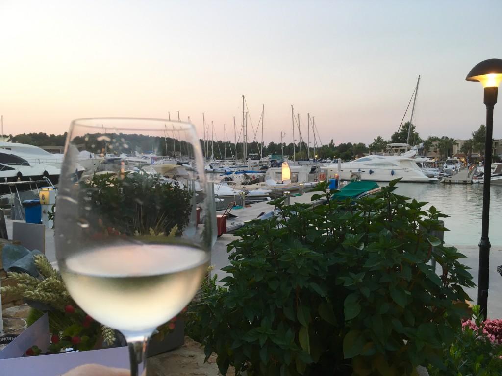 Overlooking Sani Marina