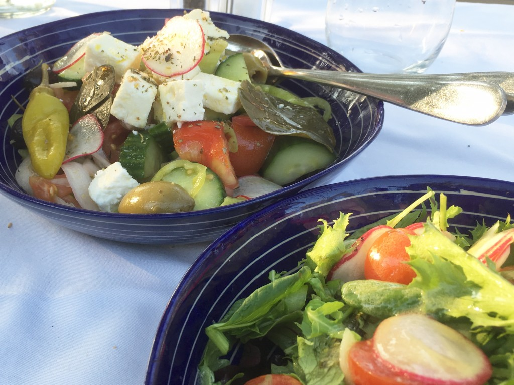 Greek food at Sani Resort in Greece