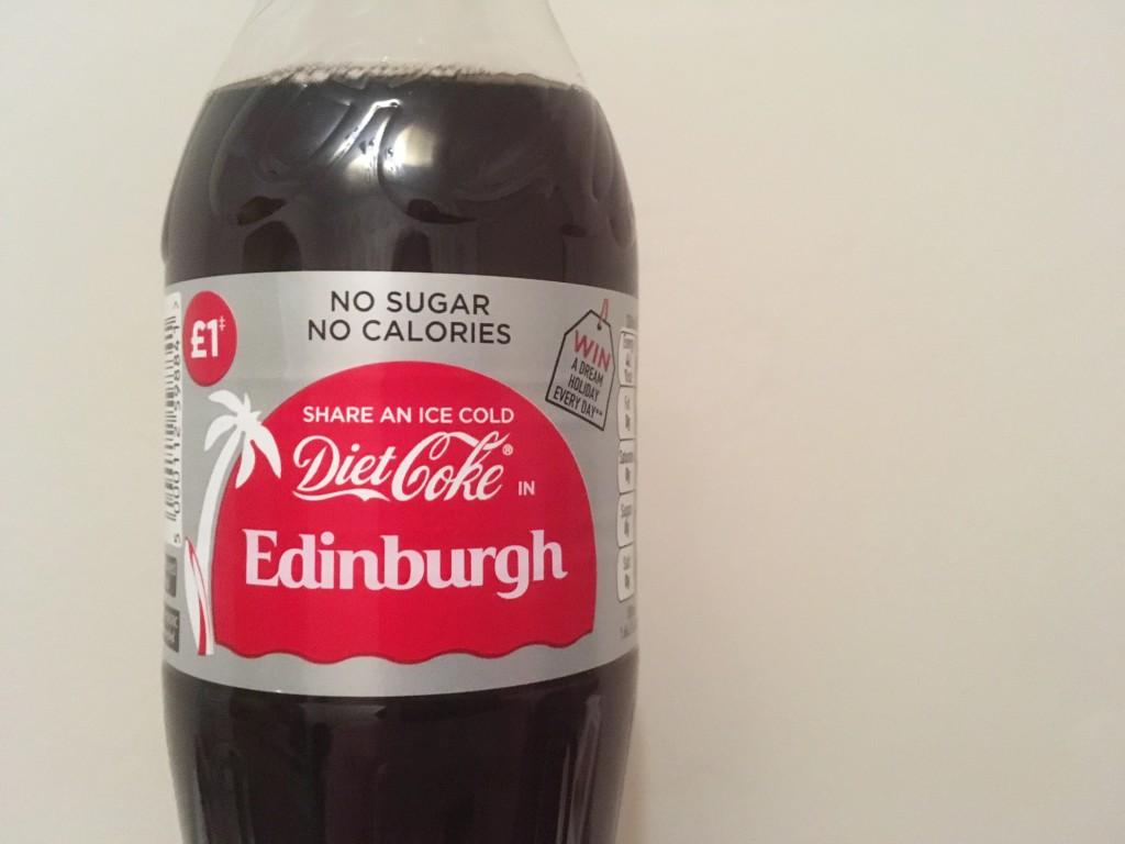 Edinburgh coke bottle