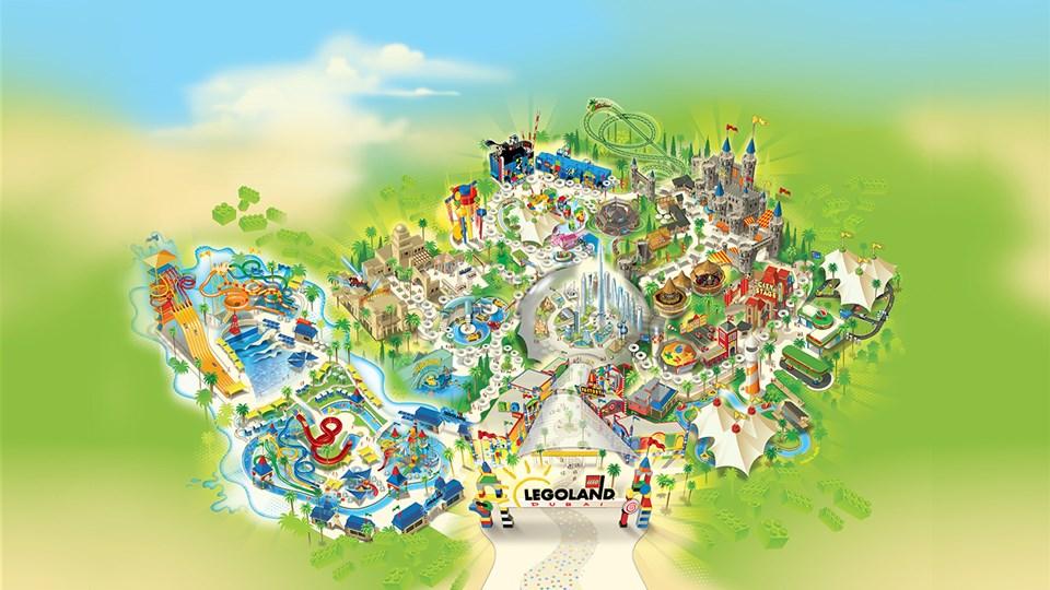 Legoland Dubai Map