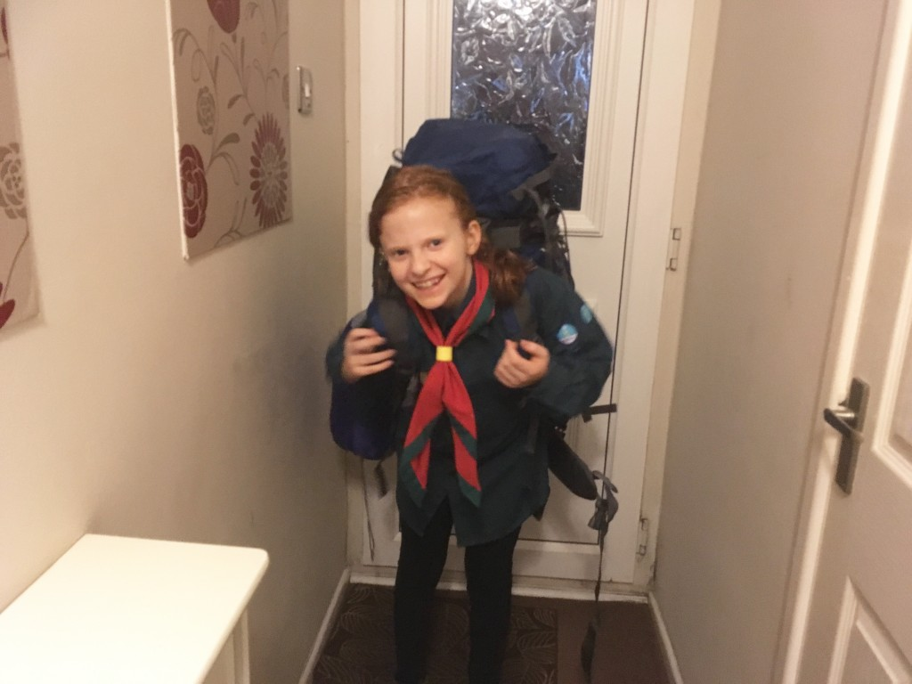 Katie going on Scout Camp