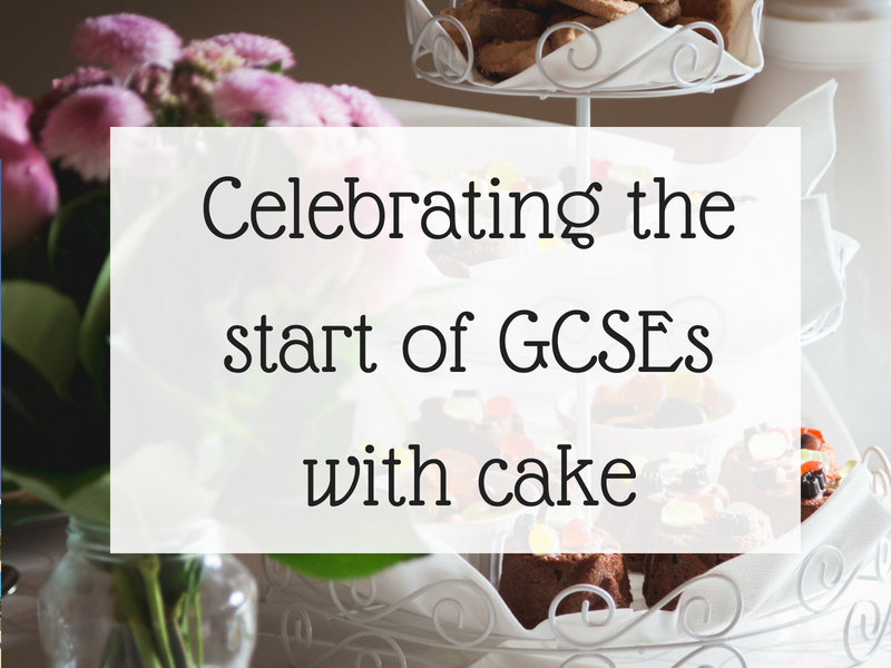 Celebrating the start of GCSEs with cake