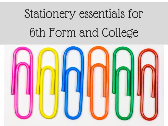 Stationery essentials for 6th form and college