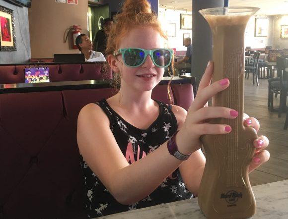 Daughter in Hard Rock Cancun