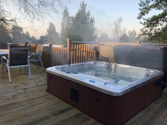 Hot tub at Sandybrook Park