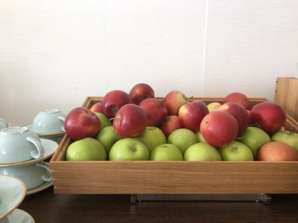 Apples at the Doubletree spa