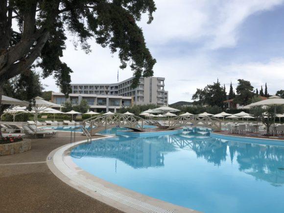 The beach pool at Ikos Olivia