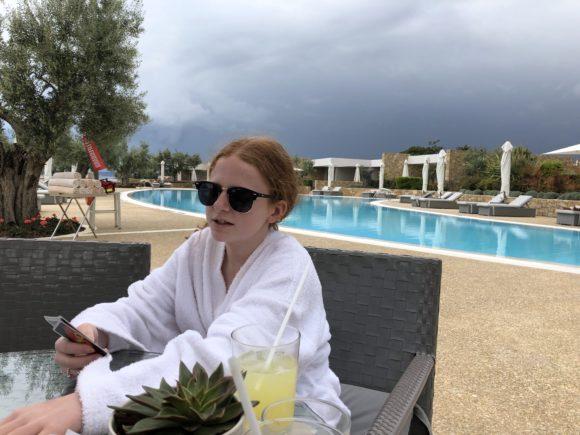 Relaxing at Ikos Olivia