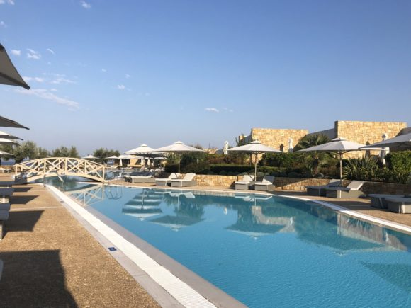 The deluxe pool at Ikos Olivia