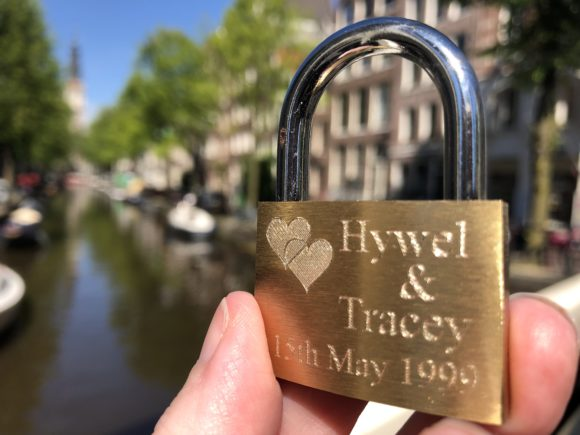 Love Lock in Amsterdam