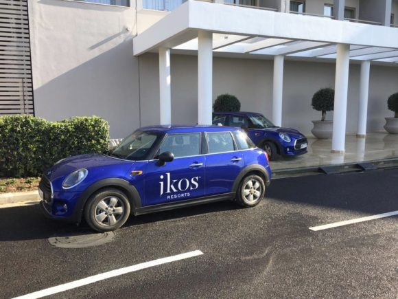 Mini Cooper hire at Ikos Olivia