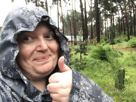 Center Parcs in the rain