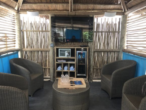Inside a Cabana at Center Parcs