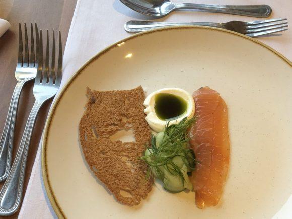 Salmon starter at Carden Park