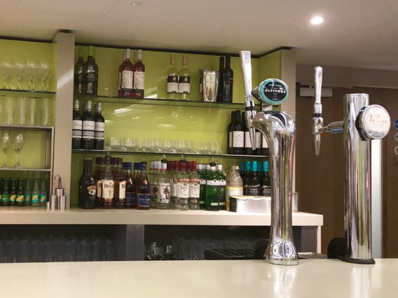 The bar at Escape Lounge T1 Manchester Airport