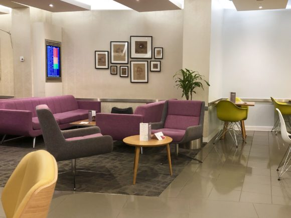 Escape Lounge seating at Manchester T1
