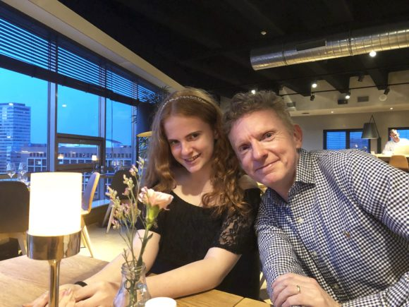 Husband and daughter in Amsterdam