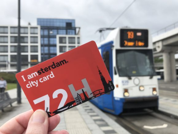I Amsterdam Card and using the trams
