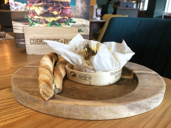 Oven-baked camembert