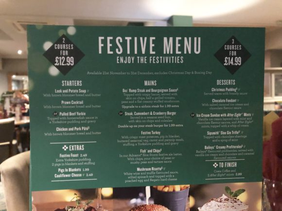 The Festive Menu at the Cookhouse and Pub