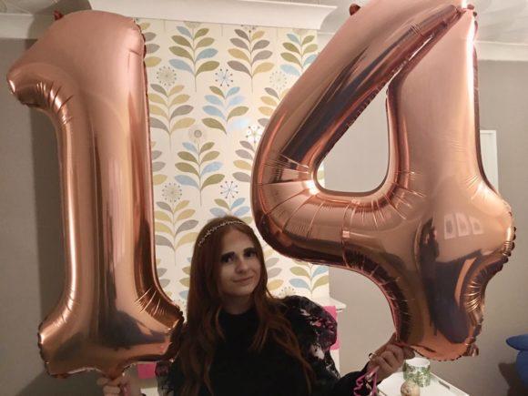 Daughter on her birthday